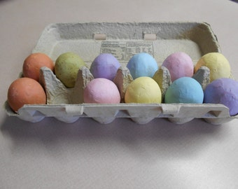 Colored paper mache' Easter eggs