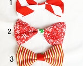 Adjustable Strap Christmas Bowties, Christmas Hairbows, Holiday Hair Accessories, Holiday Bow Ties, Christmas Photos, Christmas Party Tie