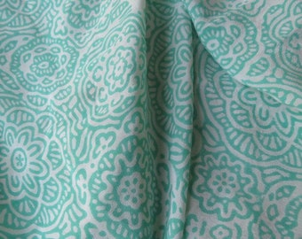 Green Floral Pure Silk Fabric By The Yard - HF912