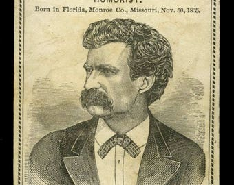 c.1878 Mark Twain card -- Jumping Frog - Innocents - Roughing It