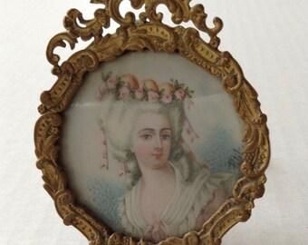 Handpainted Portrait on Ivory