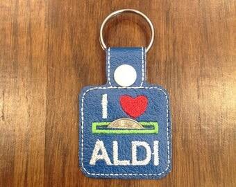 Aldi Quarter Keeper, Aldi Keychain, I Love Aldi, Aldi Key Fob
