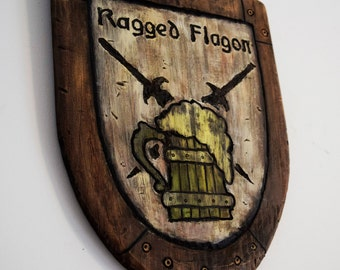 "Skyrim ""Inspired"" Ragged Flagon Pub Sign"