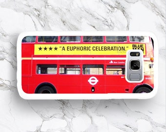 Samsung Galaxy S8 Red London Bus Phone Case, S8+ S7 Plus Classic Routemaster UK Bus, Funny S8 Plus S7 Edge S6 Plus S5 mini S4 active cover