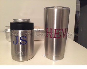 Men's yeti decal initials **DECAL ONLY**