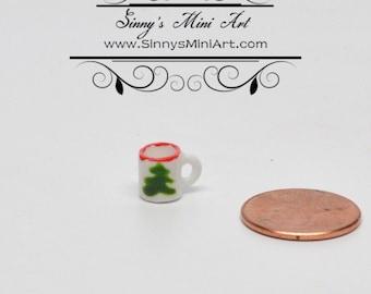 1:12 Dollhouse Miniature Christmas Tree Mug BD B331