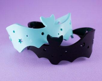 Starry Bat Bracelet Cuff - Choose Your Colour