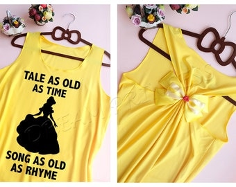 Belle Disney Princess tank top : Disney tank top / Disney Bow tank / Tank top / Disney Shirt / Princess tank top / Belle Disney shirt