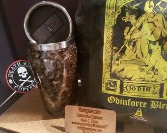 Death Wish Coffee Bean Insulated Travel Mug