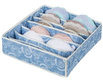 Lingerie Organizer: for bra/ underwear/ t-shirts/ sleepwear. Storage box. Drawer Organizer. Underwear organizer. Lingerie storage. Bra box.