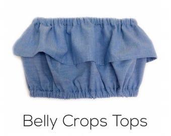 Solid Belly Crop Tops