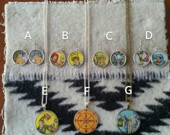 Handmade Tarot Cabochon Jewelry of the Rider-Waite Deck