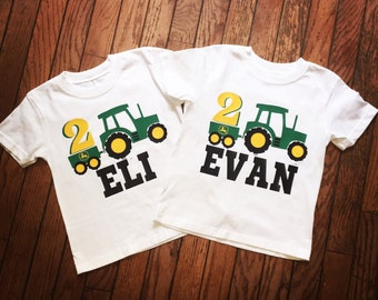 One Tractor shirt, Birthday Shirt for the special little person in your life. Birthday Boy