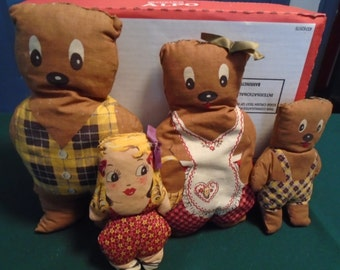 Cloth Dolls: Goldilocks and The Three bears