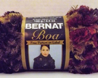 Bernat Boa Yarn ~ 100 Grams/3.5 oz ~ 129 Yards ~ MaCaw ~ # 5 Bulky ~