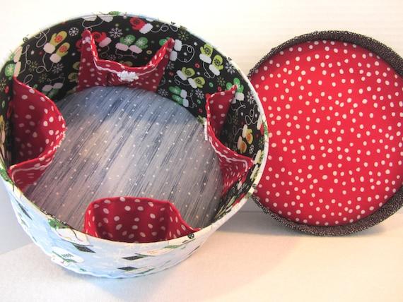 Fabric covered box sewing basket jewelry box craft for Fabric covered boxes craft