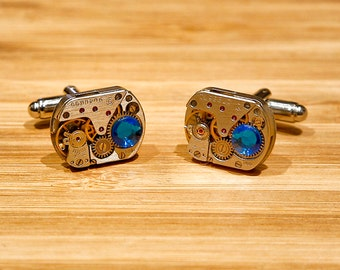 Steampunk Cufflinks - Watch Cufflinks