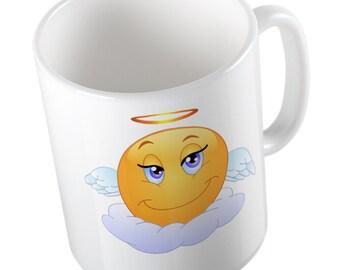 Emoji Angel mug