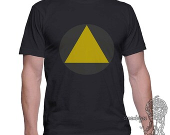Triangle printed on MEN tee