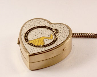 Vintage Miniature Music Box Pendant Necklace and Photo Locket Personalized Gift · 47 ·