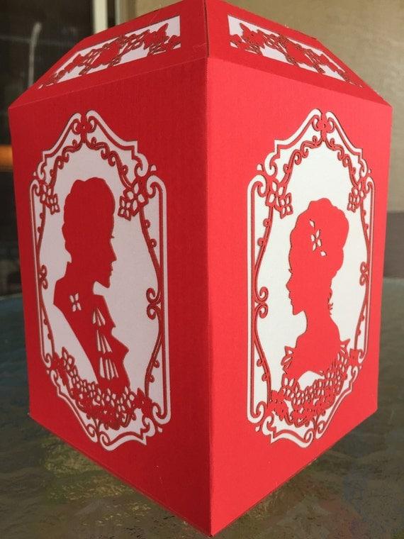 "Paper Lantern / Luminary - Romantic, Valentines day couple ""Old Fashioned Romance"""