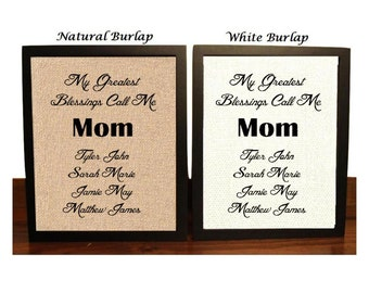 Gift for Mom, My Greatest Blessings Call Me Mom, Childrens Name, Christmas Gift For Mom, mom gift, mothers day gift