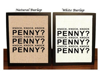 Funny Big Bang Theory, Penny Penny Penny, Sheldon, Leonard, Penny, Burlap Print, Funny Big Bang Theory Sign, Wall Decor