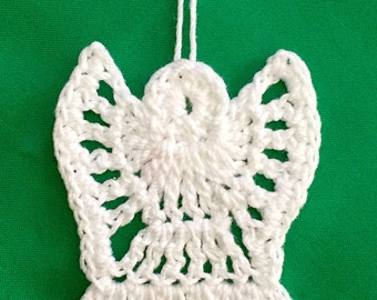 Crochet Angel Ornament, Set of 5, Crocheted Angel, Package Tie On, Angel Gift Tag