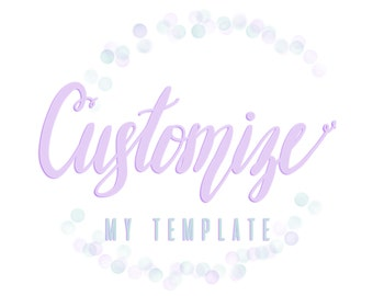 Customize a Template - Have Me Add Your Photos!