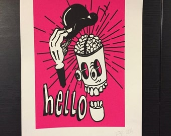 You say hello, limited edition screen print.
