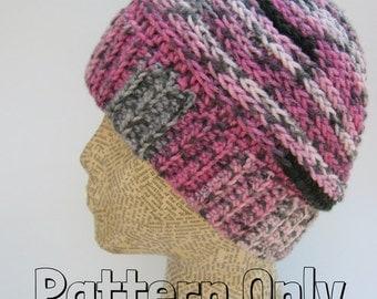 Ponytail Hat Pattern ~ Messy Bun Hat Pattern ~ PATTERN ONLY ~ Crochet Hat ~ Easy
