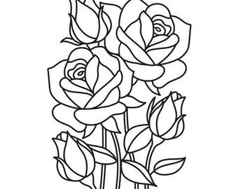 Darice - Mosaic Rose Embossing Folder