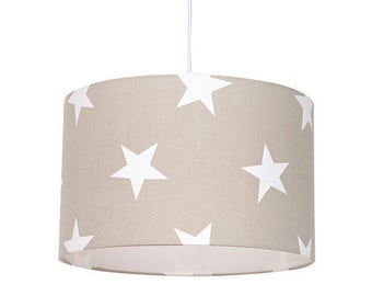 Lampshade – Beige Star