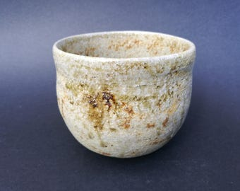 Teabowl, woodfired stoneware