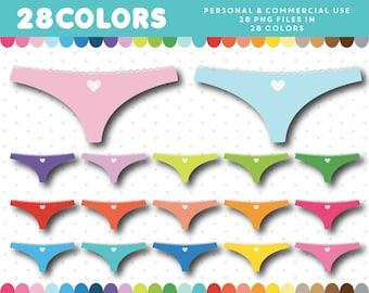 Underwear clipart, Panties clipart, Lingerie clipart, Bikini clipart, Knickers clipart, Panties clip art, Underwear clip art, CL-1180
