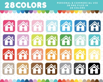 House graphics, House PNG, Home icon, House vector, Home clip art, Commercial clipart, Scrapbooking clipart, CL-913