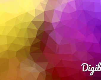 Polygonal Digital background, Website background, Graphic Texture, Gradient Texture, Printable Paper, Digital Paper, Yellow Purple Triangles