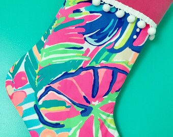 Lilly Pulitzer/ christmas stocking