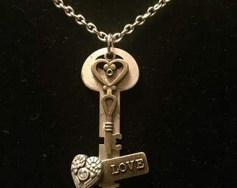 Authentice key charm necklace
