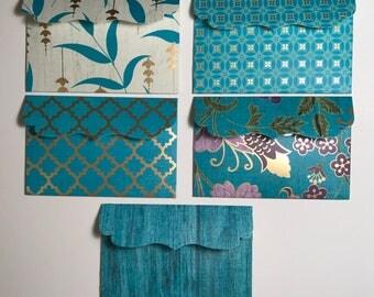 Gift Card Holder / Mini Envelopes / Gift Card Envelopes / Note Envelopes / Small Envelopes / Decorative Envelopes / Set of 5
