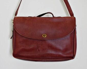 Vintage Coach Lexington maroon briefcase