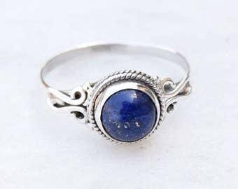 Lapis Lazuli Ring, Lapis Stone Ring, Silver Ring, Solid Sterling Silver Ring, Sterling Silver Ring,size 3 4 5 6 7 8 9 10 11 12 13