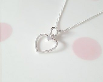 Heart Necklace, Sterling Silver Heart Necklace, Silver Heart Necklace, Heart Necklace, Heart Charm, Gift For Her, Alexia Jewellery