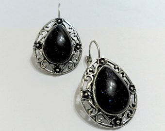 Offer: earrings with blue aventurine, vintage earrings