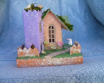 Vintage Glitter Putz House
