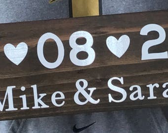 Wedding Date Wood Sign