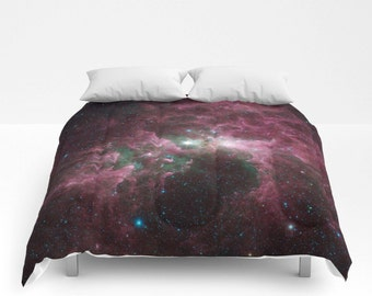 nebula bedding etsy. Black Bedroom Furniture Sets. Home Design Ideas