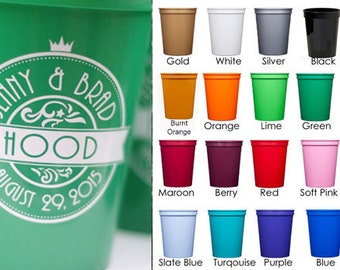 Personalized Stadium Cups {16 oz} for Wedding Reception/Wedding Shower
