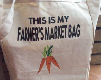 Farmer's Market Bag, Farm Fresh Food, Garden Goodies