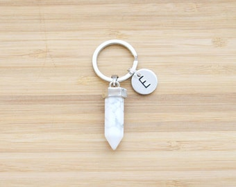 gemstone keychain | point pendant